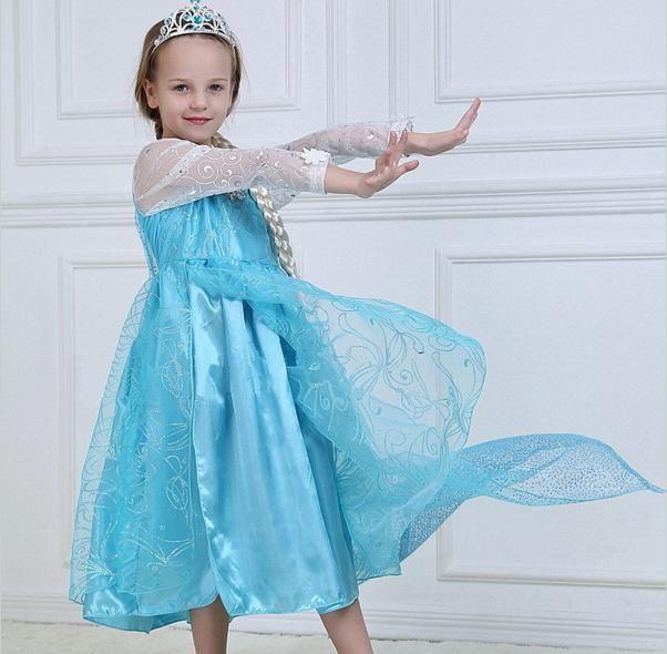 Платье Эльза Холодное сердце П-08: рост  120, 130 см. Рост в рост!