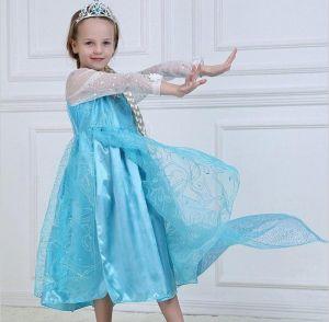 Платье Эльза Холодное сердце П-08 130 см